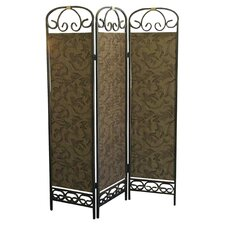 Liara 3 Panel Room Divider in Green
