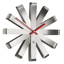 Ribbon Clock in Stainless Steel