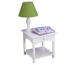 Nantucket 1 Drawer Nightstand in White