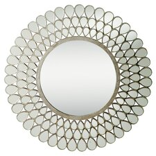 Teardrop Mirror in Antique Silver