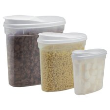 3 Piece Container Set in Clear