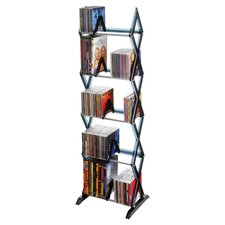Mitsu Multimedia Storage Rack in Black