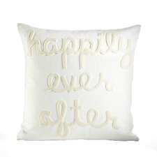 Happily Ever After Throw Pillow in Cream & Antique White