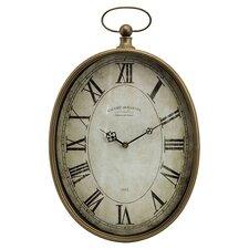 Toledo Wall Clock in Antique Brass