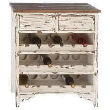 Classic Wood 18 Bottle Wine Cabinet in White