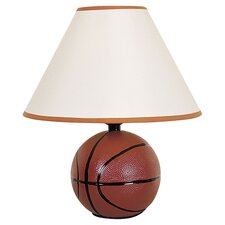 Basketball Table Lamp in Brown