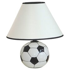 Soccer Ball Table Lamp in Black & White
