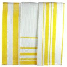 MUincotton Striped Dish Towel in Lemon