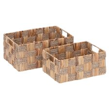 Kladeos 2 Piece Wicker Basket Set in Natural