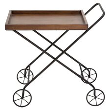 Tea Serving Cart in Brown