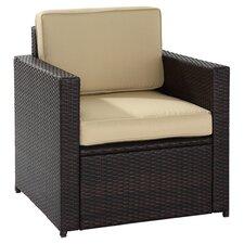 Palm Harbor Arm Chair in Brown with Khaki Cushions