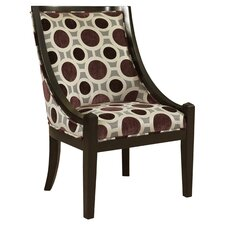 Aaron Dot Arm Chair in Mulberry & Grey