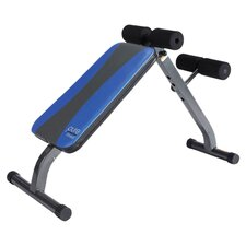 Crunch Adjustable Ab Bench in Blue & Grey