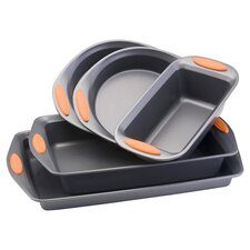 Yum-O! 5 Piece Bakeware Set in Gray