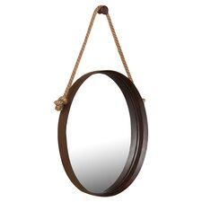 Bolivar Decorative Wall Mirror in Rich Rust