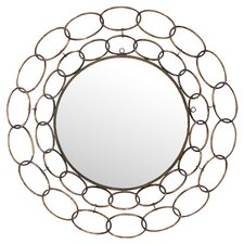 Chain Wall Mirror in Golden Brown