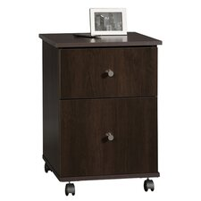 Mobile File Cabinet in Cinnamon Cherry