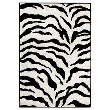 Earth Zebra Black & White Rug