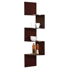 Corner Wall Shelf in Cherry