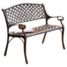 Antique Patio Bench in Bronze