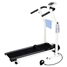 Cory Everson Manual Folding Incline Treadmill in Black & White