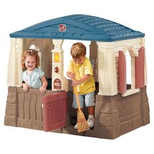 Neat & Tidy Playhouse in Blue & Tan