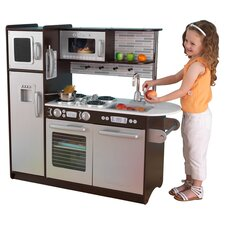 Uptown Play Kitchen in Espresso & Silver