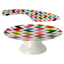 Ziggy Cake Stand & Knife Set