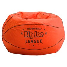 Basketball Bean Bag Chair in Orange