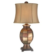 Esra Mosaic Table Lamp in Gold