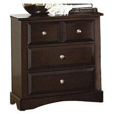 Nantucket 4 Drawer Nightstand in Dark Cappuccino