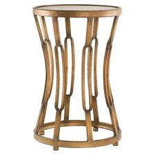 Hourglass End Table in Antique Copper