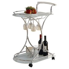Annie Serving Cart in Chrome