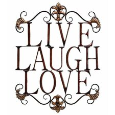 Urban Trends Live, Laugh, Love Wall Décor in Bronze
