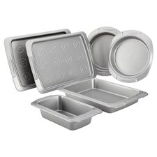 Deluxe 6 Piece Nonstick Bakeware Set in Steel