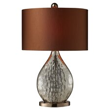 Sovereign Table Lamp in Silver & Bronze