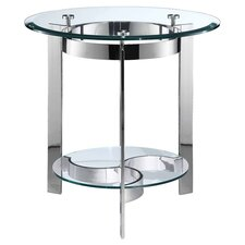 Mercury End Table in Stainless Steel