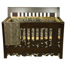 Sumba 4 Piece Crib Bedding Set in Brown