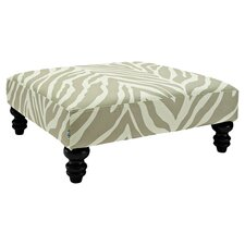Zev Phoenix Square Cocktail Ottoman in Putty