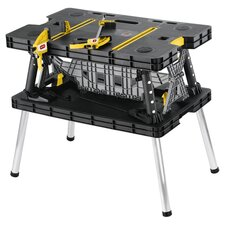Folding Work Table in Black