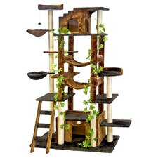 "77"" Cat Tree in Brown & Black"