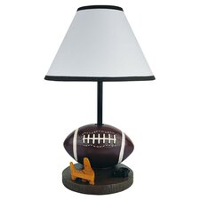 Football Table Lamp in Dark Brown