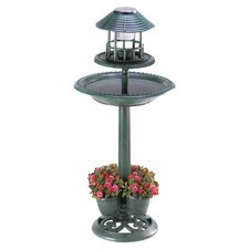 Lantern Birdbath Planter in Green
