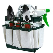 Green Thumb 7 Piece Garden Tool Set in White