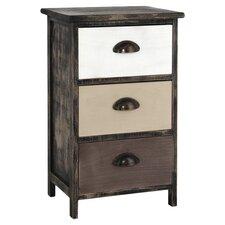 Gozo 3 Drawer Bedside Table in Dark Oak