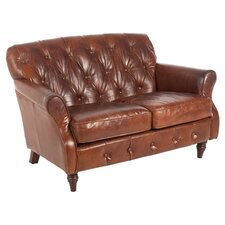 Vintage Leather 2 Seater Sofa in Brown