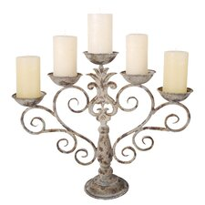 Candelabra in Aged Metal
