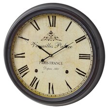 Versailles Palace Wall Clock in Black