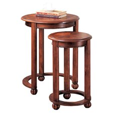 Mill Creek 2 Piece Nesting Table Set in Cherry