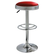 Adjustable Barstool in Red